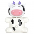 Retractable Cute Cow Style Ballpoint Pen - White + Black + Pink + Purple
