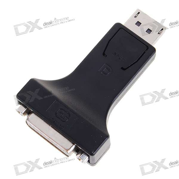20-Pin DisplayPort Male to DVI Female Adapter (Black)
