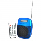 "SH 820 Portable 1.5"" Screen Media Player 2-Channel Speaker w/ Microphone / TF / FM - Blue + Black"