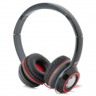 Shengtena SN-114 Stylish Stereo Headphones - Black + Red (3.5mm Plug / 1.2m)