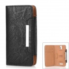 KAILAIDENG Stylish Protective PU Leather Case for OPPO Find 5 (X909) - Black