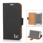 I&C Classic Leech Pattern Protective Leather Case for Samsung Galaxy S4 i9500 - Black