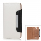KAILAIDENG Stylish Protective PU Leather Case w/ Card Slot for OPPO Find 5 (X909) - White