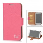 I&C Classic Leech Pattern Protective Leather Case for Samsung Galaxy S4 i9500 - Rosy