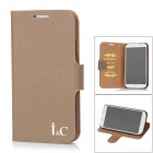 I&C Classic Leech Pattern Protective Leather Case for Samsung Galaxy S4 i9500 - Greige