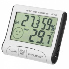 "DC-103 3.0"" LCD Digital Thermometer & Hygrometer - White + Grey (1 x AAA)"