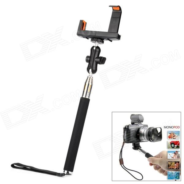 Multifunctional Portable Self-Shooting Monopod for Camera / Cellphone - Black