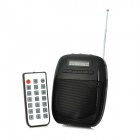 "SH SH-820 Portable 1.5"" Screen Media Player 2-Channel Speaker w/ Microphone / TF / FM - Black"
