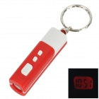 TYZ-01-HONGSE Mini Flashlight-Style Digital Projection Clock w/ Keychain - Red + White (1 x AG13)