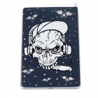 AITUO Hip-Hop Skeleton Screen Protector + Back Sticker for Ipad MINI - Black + White