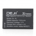 DEJI DJ-BP-4L Replacement Li-ion 1500mAh Battery for N97 / E71 / E52 / E55 / E61i - Black