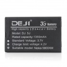 DEJI DJ-BL-5J Replacement Li-ion 1350mAh Battery for Nokia 5230 / 5233 / 5235 / 5288 / 5800i - Black