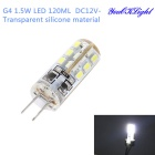 YK1402 MSLED S15 G4 1.5W 120lm 6500K 24-SMD 3014 LED ColdWhite Light Bulb (DC 12V)