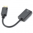 DisplayPort 1.2 macho para HDMI 1.4 Feminino Adapter Cable - Black