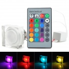 3W 150lm 1-LED RGB Light Acrylic Ceiling Light w/ Remote Controller - White (85-265V)