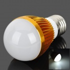Samvol E27 3W 240lm 6000K 3-LED White LED Lamp - Golden (85~265V)