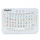 iPazzPort 04200003m Mini Wireless Bluetooth V2.0 59 Keys Keyboard for Ipad / Iphone + More - White