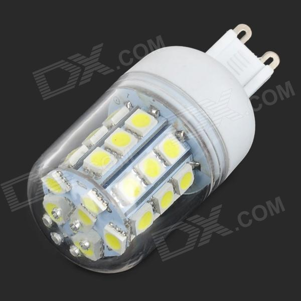 G9 3.6W 440lm 7000K 30-SMD 5050 LED White Light Bulb - Transparent + White