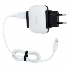 UMIQU T506 EU Plug Dual USB AC Charger for iPhone 5 / iPad Mini - White + Black (AC 100~240V)