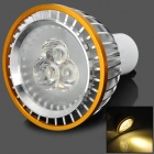 GU10 3W 180lm 3500K 3-LED Warm White Light Spotlight - Silber + Golden (220V)