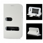 Alis Protective PU Leather Flip-Open Case for Samsung i9082 - White