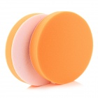 "6"" Round Car Wash Cleaning Polishing Sponge Pads - Orange (2 PCS)"