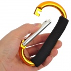 Durable Multifunction Aluminum Alloy Sponge Carabiner Clip - Golden + Black + Silver
