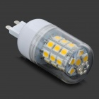 G9 5.8W 510lm 3000K 30-SMD 5050 LED Warm White Bulb - Transparent + White