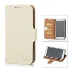 I&C Classic Leech Pattern Protective Leather Case for Samsung Galaxy S4 i9500 - White