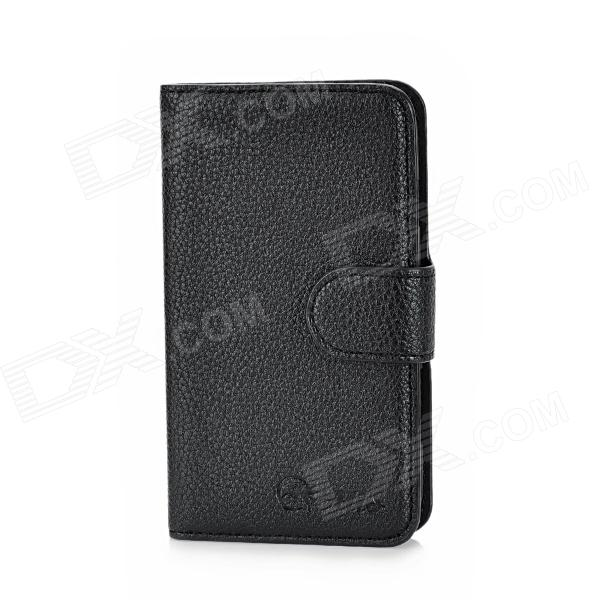 Alis Protective PU Leather Flip-Open Case w/ Card Slots for Samsung i8262 - Black dk eyewitness books fish