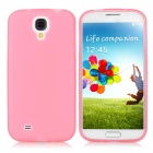 Stylish Protective Matte PVC Back Case w/ Capacitance Stylus for Samsung Galaxy S4 i9500 - Pink