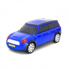 ADS Mini Car Model Style Media Player Speaker w/ TF / FM - Blue + Black