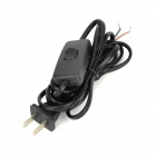 DIY Power Control OFF / On Switch Power Cable - Black (250V / 2-Flat-Pin Plug)