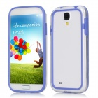 Protective PC + TPU Bumper Frame for Samsung Galaxy S4 i9500 - Blue + Transparent