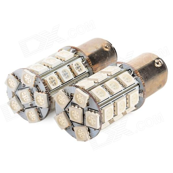 1157 / BAY15D 5W 27-5050 SMD LED Red Car Tail / Brake Light (Pair)