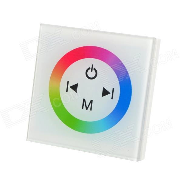 TM08 LED RGB Strip 4-Key Touch Control Panel Module - White + BlackOther Accessories<br>ModelTM08MaterialGlassForm  ColorWhiteQuantity1Packing List1 x LED control touch panel1 x English user manual<br>