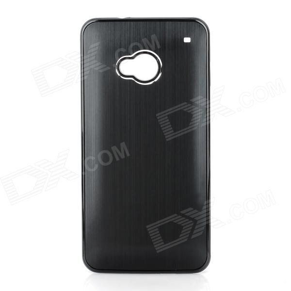 Stylish Brushed Metal Aluminum Alloy Back Case for HTC One / M7 - Black стоимость