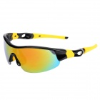 CARSHIRO Grey REVO Polarized Lens UV400 Protection Sunglasses - Black + Yellow