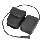 8.4V 4800mAh Waterproof Rechargeable Li-ion 18650 Battery Pack - Black
