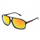 Fashion UV400 Protection Red Lens PC Frame Sunglasses - Black