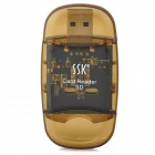 SSK SCRS026 USB 2.0 SD Card Reader - Brown