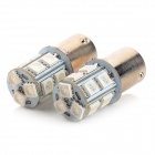 1156 / BA15S / P21W 2.3W 13-5050 SMD LED Yellow Car Turn Signal / Brake / Reversing Light (Pair)