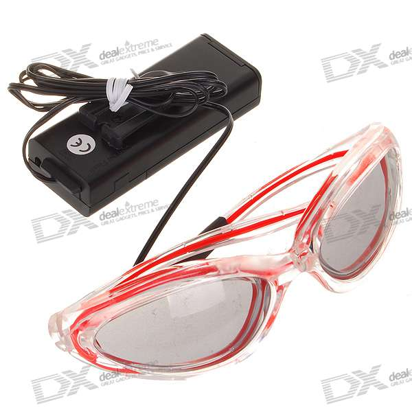 Trendy 2-Mode Flashing and Glowing EL Fashion Glasses - Purple (2*AA)