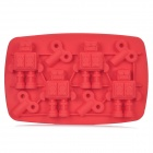Stylish Robot Shaped Ice Cub Tray Mold - Red