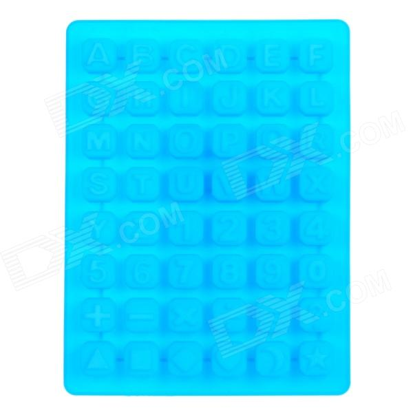 Silicone Alphabet + Number Shaped Ice Cubes Trays Maker DIY Mould - Blue silicone skeleton shaped ice cubes trays maker diy mould random color