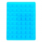 Silicone Alphabet + Number Shaped Ice Cubes Trays Maker DIY Mould - Blue
