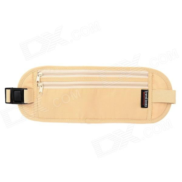 TravelIcons TF056S Water Resistant Security Money / Passport Waist Belt Bag - Beige (S-Size)