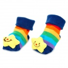 Cartoon Cotton Socks for 0~6 Months Baby - Colorful (Pair)