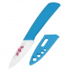 "TJC-03103 Stylish 3"" Zirconia Kitchen Ceramic Knife - Blue + Ivory + Red"