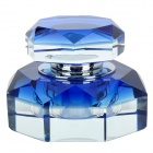 A037 Octangle Style Perfume Bottle Container for Car - Blue + Transparent